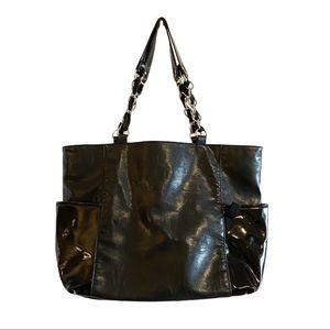 Jessica Simpson faux leather black shoulder bag